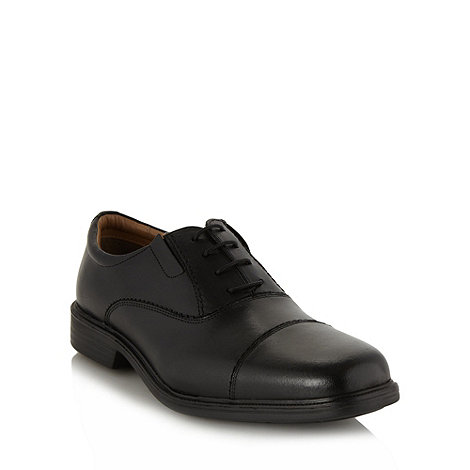 Henley Comfort - Black +Airsoft+ leather toe cap shoes