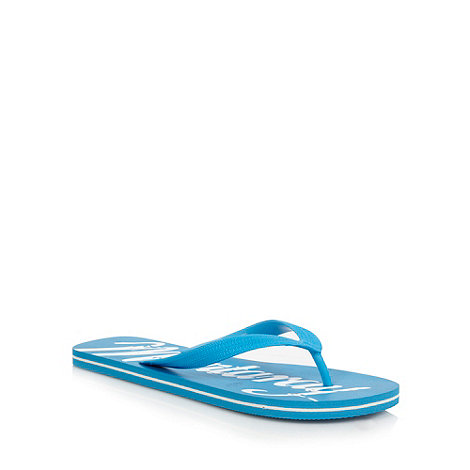 Mantaray - Light blue brand logo flip flops