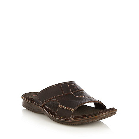 Mantaray - Chocolate cut out mules