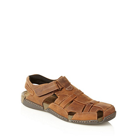 Maine New England - Tan woven panelled sandals