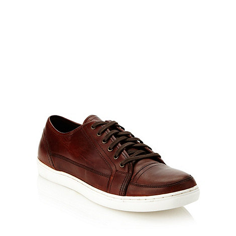 Mantaray - Brown contrasting soled leather shoes