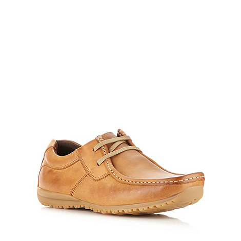 Mantaray - Tan leather square toed shoes