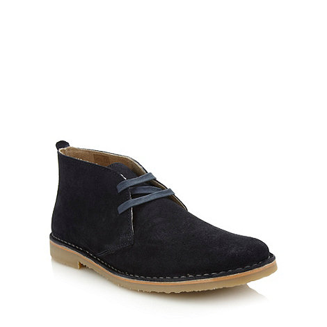 Mantaray - Navy suede ankle boots