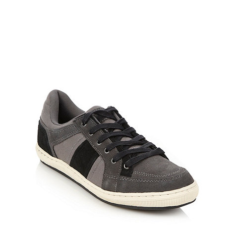 Mantaray - Grey panel lace up trainers