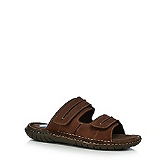 Henley Comfort - Brown leather 'Walker Mule 3' sandals