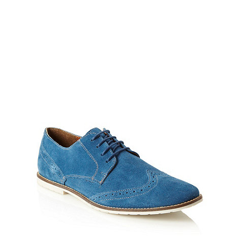 Red Herring - Blue suede brogue shoes