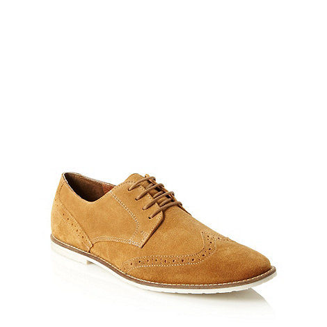 Red Herring - Tan suede brogue shoes