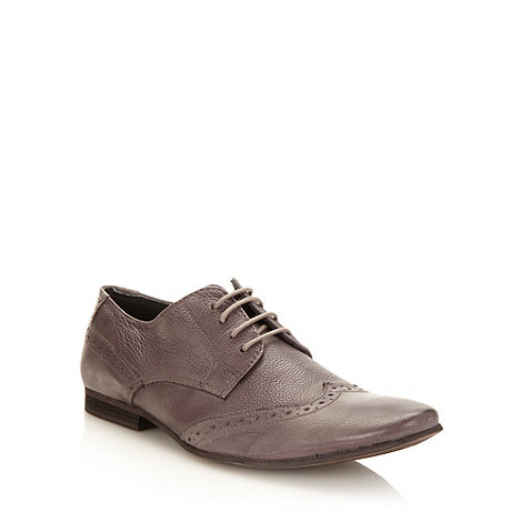 Red Herring - Light grey leather brogues