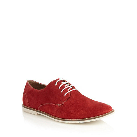Red Herring - Red suede lace up shoes