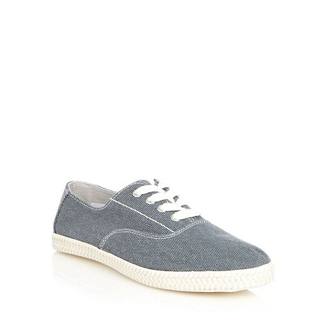 Red Herring - Blue textured canvas trainers