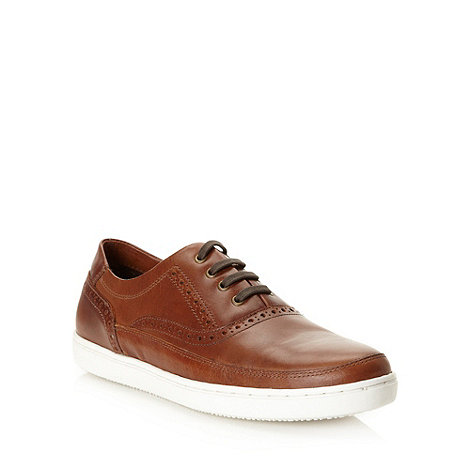 Red Herring - Tan matte leather brogues