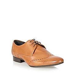 Red Herring - Tan leather pointed toe brogues