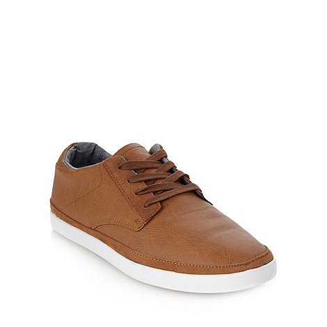 Red Herring - Tan suede trimmed lace up trainers