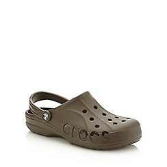 Crocs - Big and tall chocolate brown unisex clogs