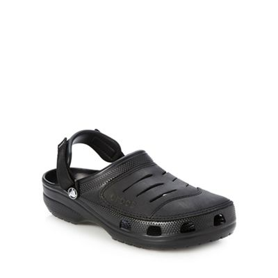 Crocs Black branded rip tape clogs - . -