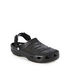 Crocs - Big and tall black branded rip tape clogs