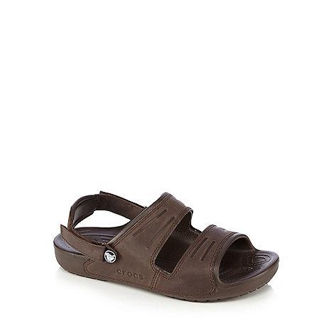 Crocs - Dark brown leather sandals