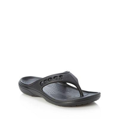 Crocs Black cut out logo flip flops - . -