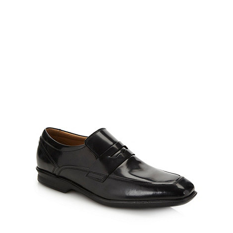 Henley Comfort - Black +Airsoft+ glazed leather square toed shoes