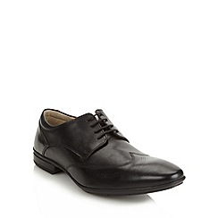 Henley Comfort - Black 'Airsoft' leather wing cap shoes