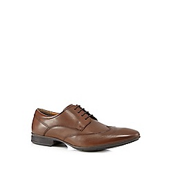Henley Comfort - Chocolate 'Airsoft' perforated leather lace up shoes