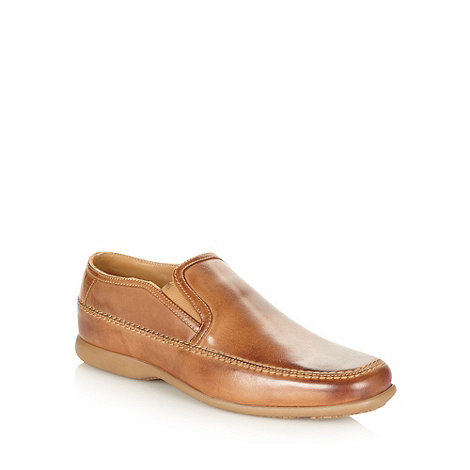 Henley Comfort - Tan +Airsoft+ elasticated slip on shoes