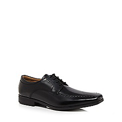 Henley Comfort - Black 'Airsoft' glazed leather lace up shoes