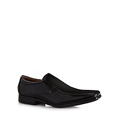 Henley Comfort - Black 'Airsoft' glazed leather slip on shoes
