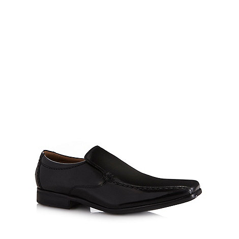 Henley Comfort - Black +Airsoft+ glazed leather slip on shoes