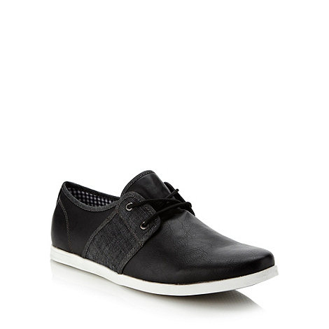 Call It Spring - Black denim panelled shoes