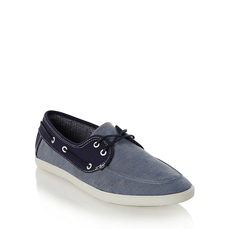 Call It Spring - Blue chambray denim boat shoes