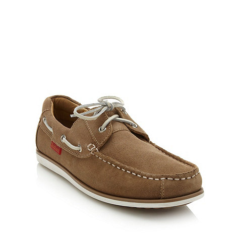 Chatham Marine - Taupe suede boat shoes