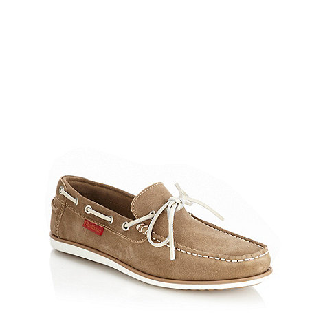 Chatham Marine - Taupe suede contrasting laced boat shoes