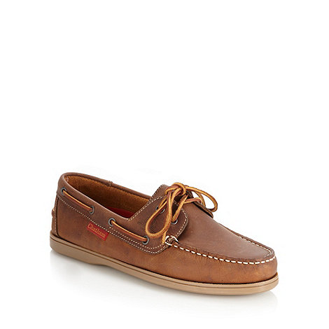 Chatham Marine - Tan leather apron front boat shoes