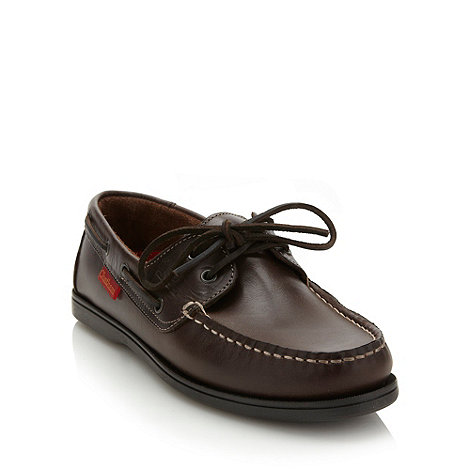 Chatham Marine - Dark brown leather boat shoes