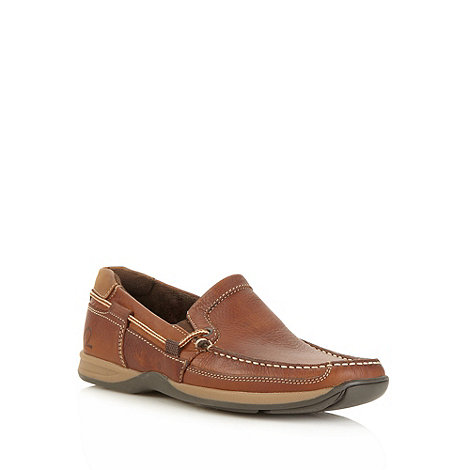 Chatham Marine - Brown leather slip on shoes