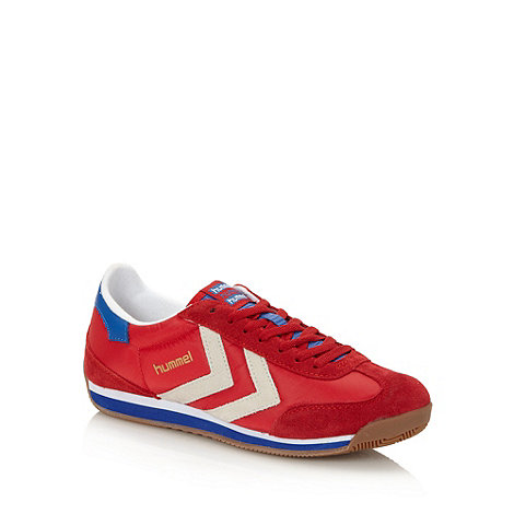 Hummel - Red coated trainers