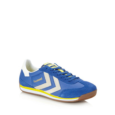 Hummel - Blue coated trainers