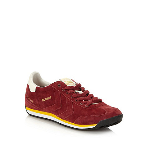 Hummel - Dark red suede trainers