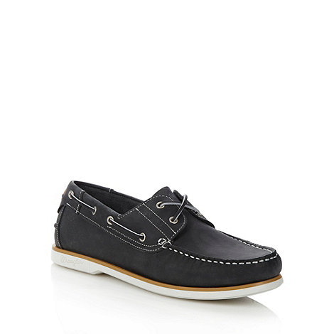 Wrangler - Navy leather boat shoes