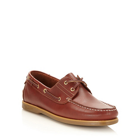 Wrangler - Dark red leather boat shoes