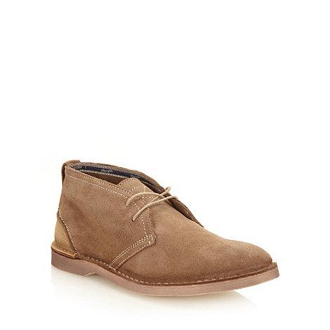 Wrangler - Natural suede desert boots