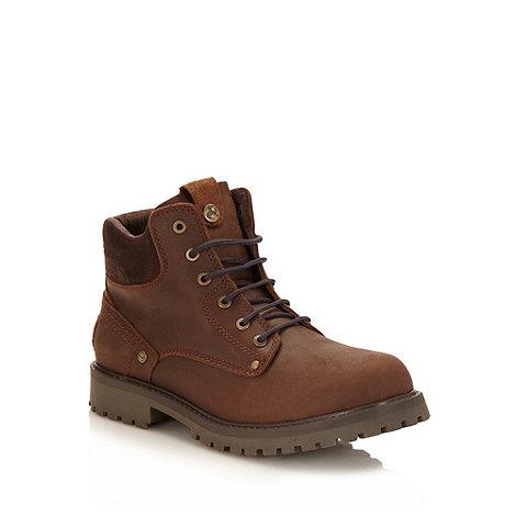 Wrangler - Dark brown worker boots