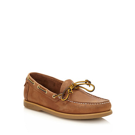 Wrangler - Brown leather boat shoes