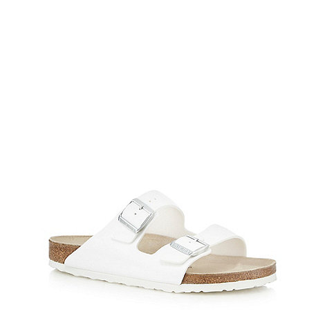 Birkenstock - White +Arizona+ sandals