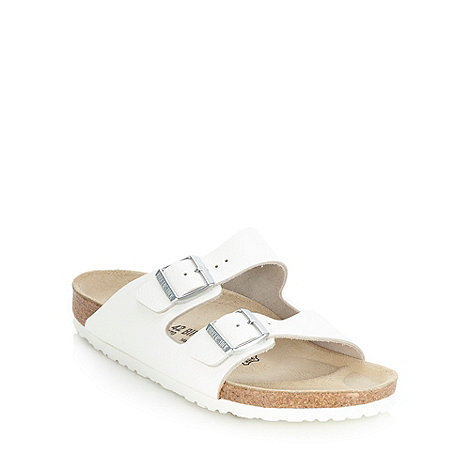 Birkenstock - White +Arizona+ leather strapped sandals