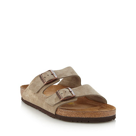 Birkenstock - Taupe suede +Arizona+ sandals