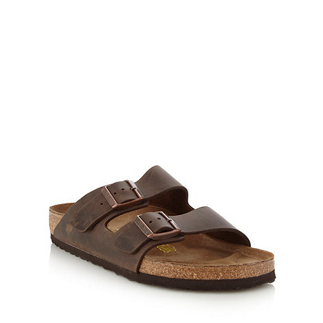 Birkenstock - Brown leather +Arizona+ sandals
