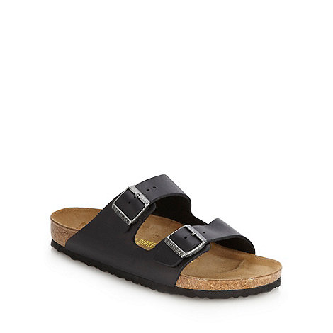 Birkenstock - Black +Arizona+ leather strapped sandals