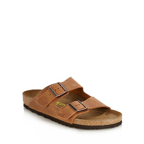 Birkenstock - Tan +Arizona+ leather sandals
